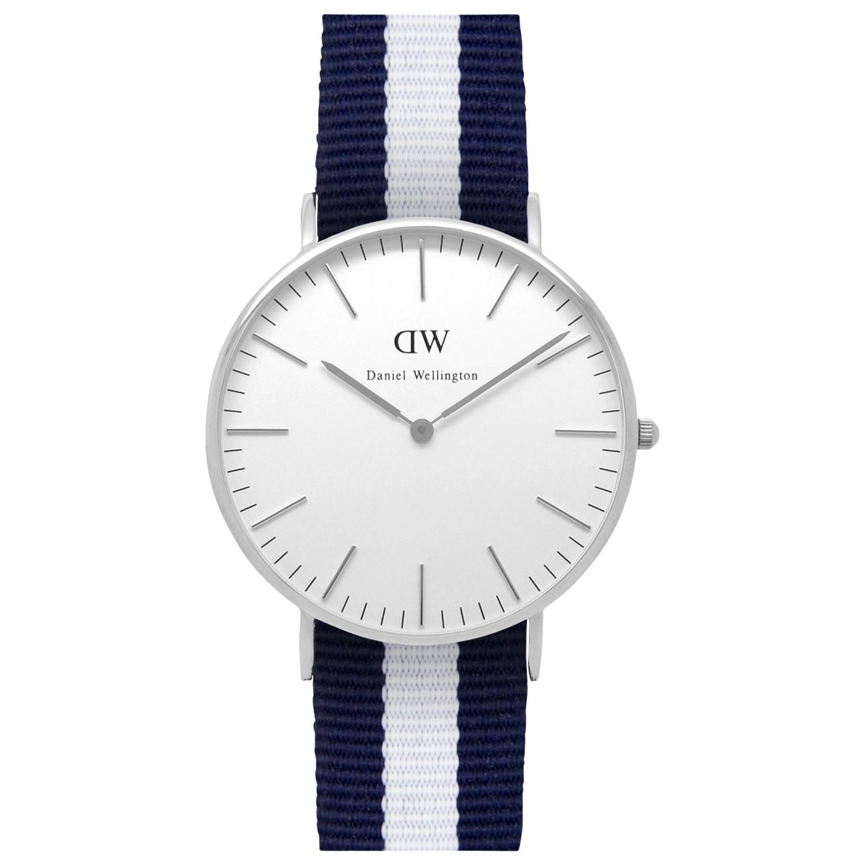 daniel wellington women 39 s nato fabric strap watch in blue lyst. Black Bedroom Furniture Sets. Home Design Ideas