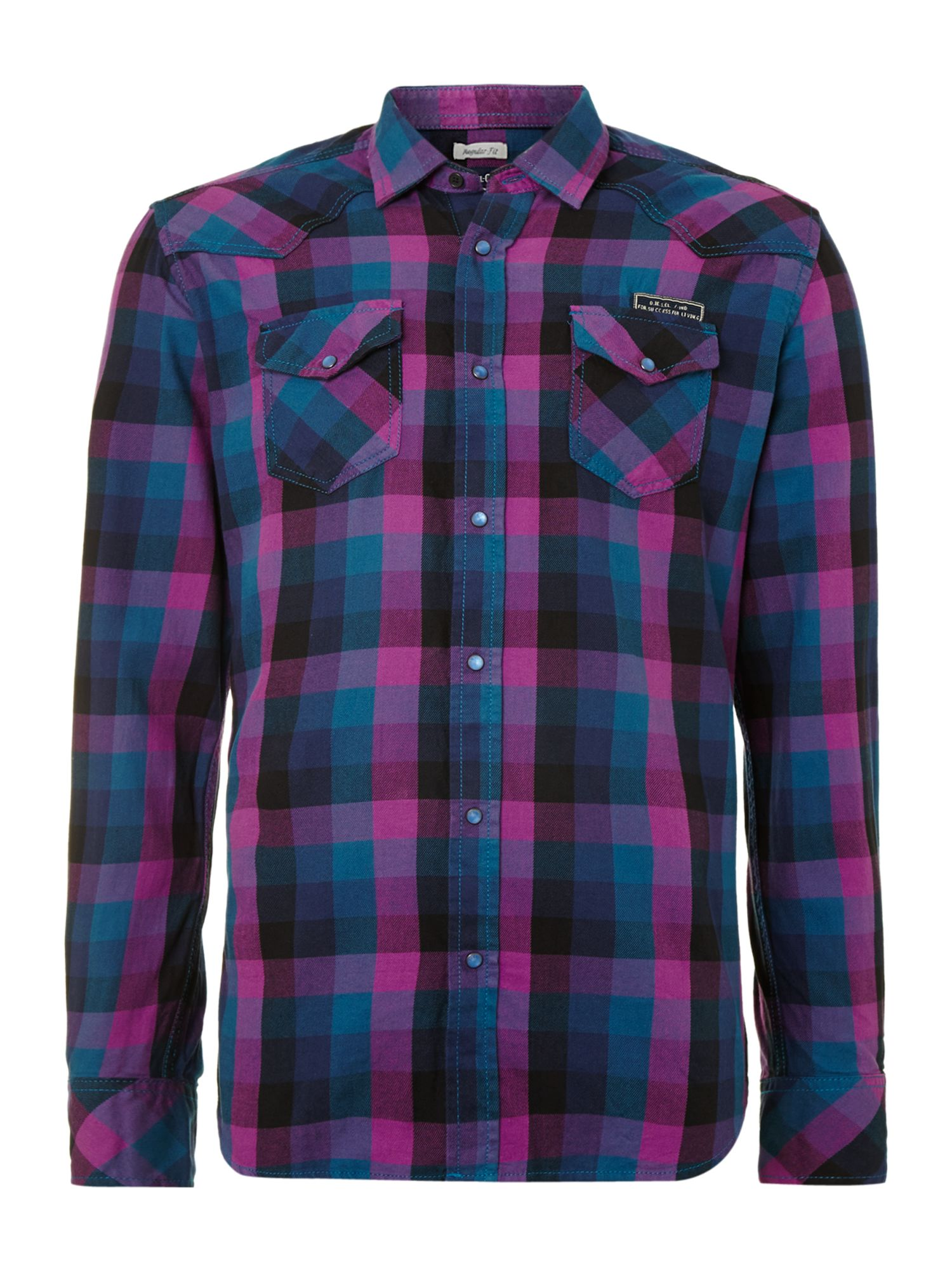 Diesel Check Shirt In Purple For Men Lyst