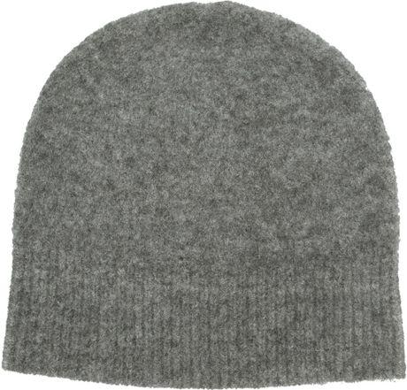 Etoile isabel marant bonnet agathe beanie in gray grey for Agathe bonnet