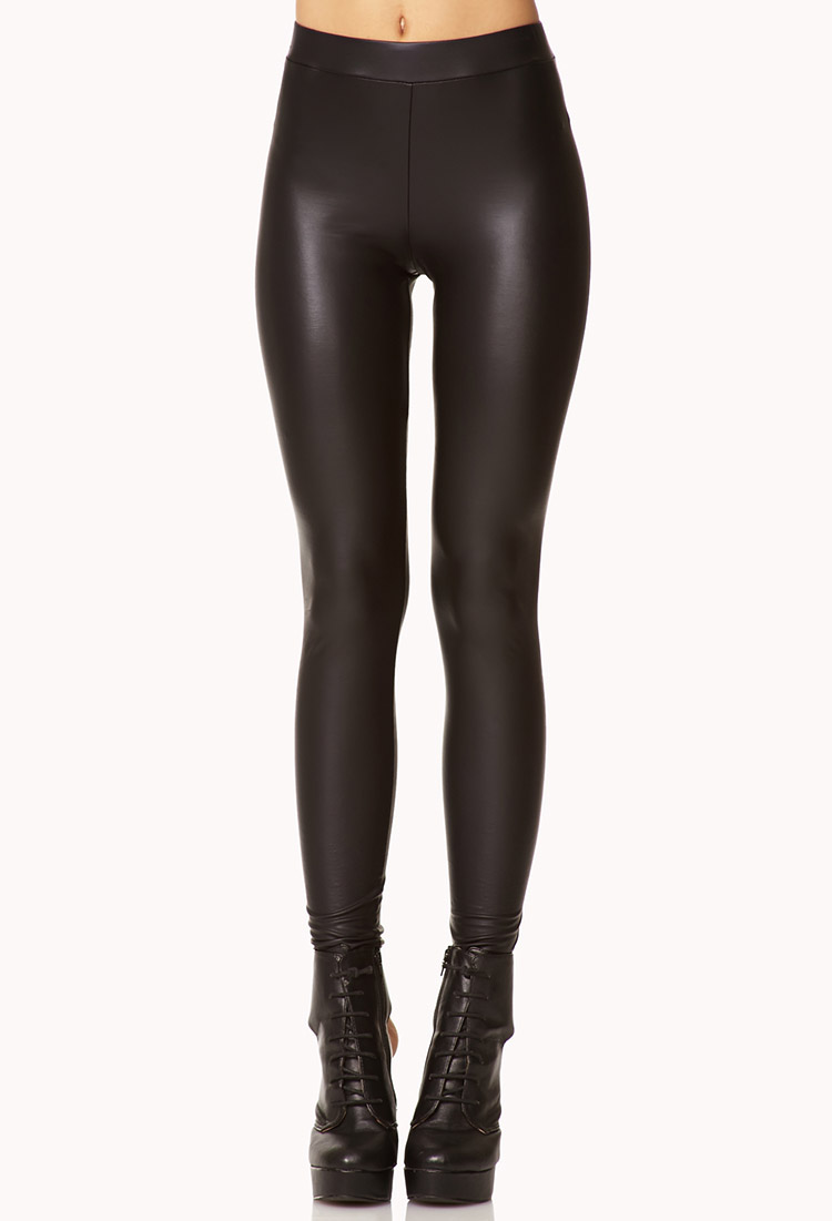 faux leather leggings sex