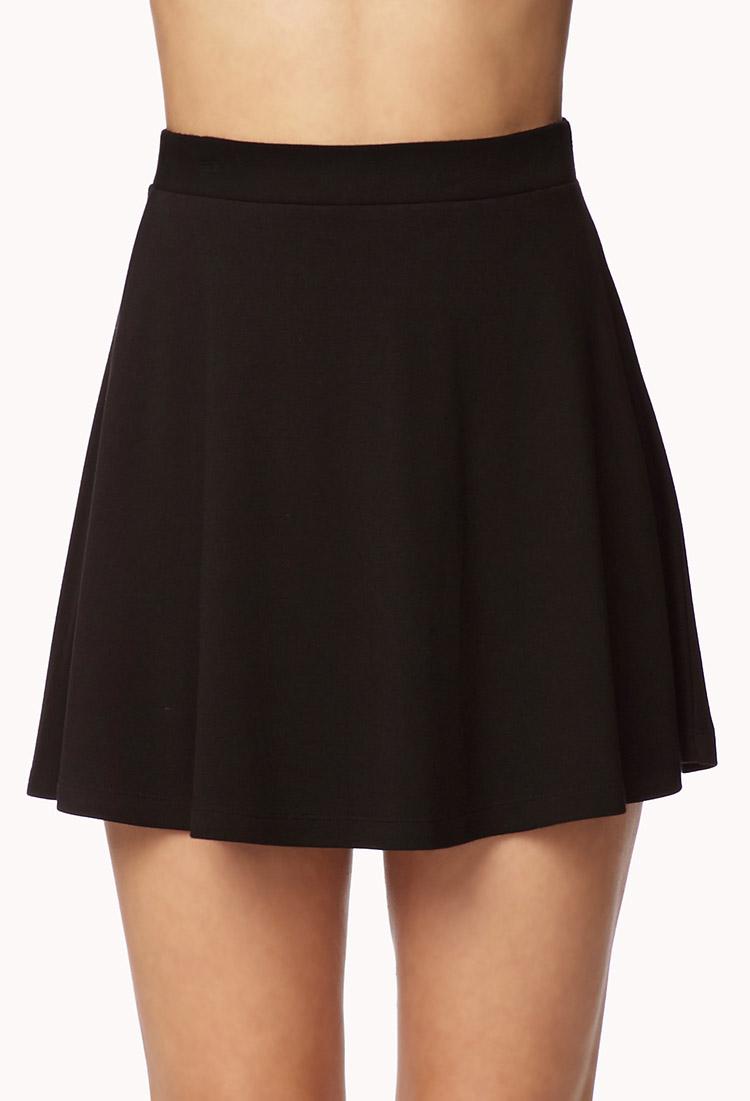 Lyst - Forever 21 Knit Skater Skirt in Black 34bd72f73