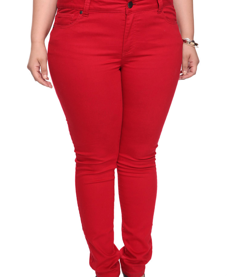 Lyst - Forever 21 Colored Skinny Jeans in Red