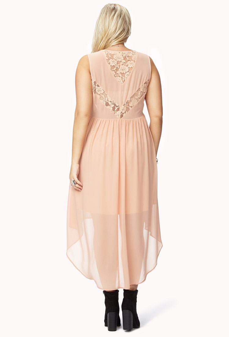 Forever 21 Summer Nights High-Low Dress in Pink - Lyst