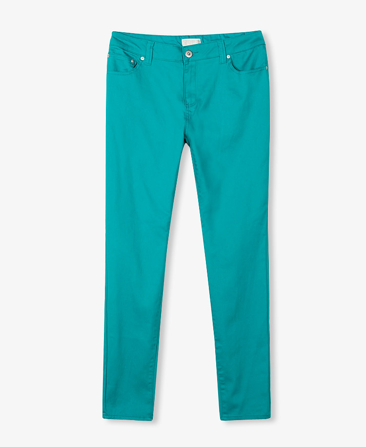 Forever 21 Colored Stretchy Skinny Jeans In Blue