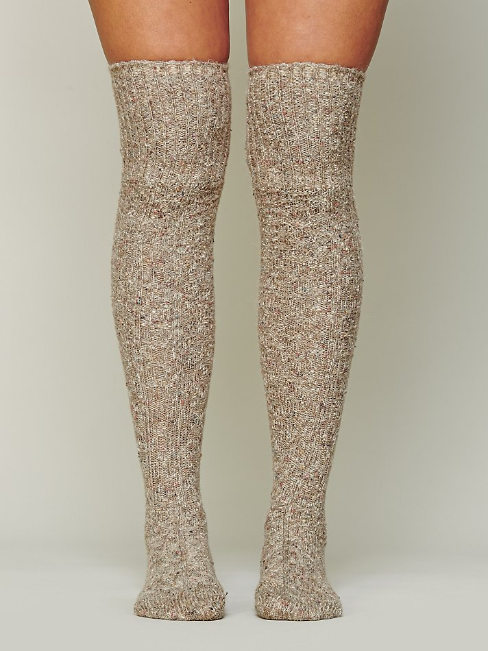 0569c14b731 Free People Cozy Sweater Tall Sock in Brown - Lyst