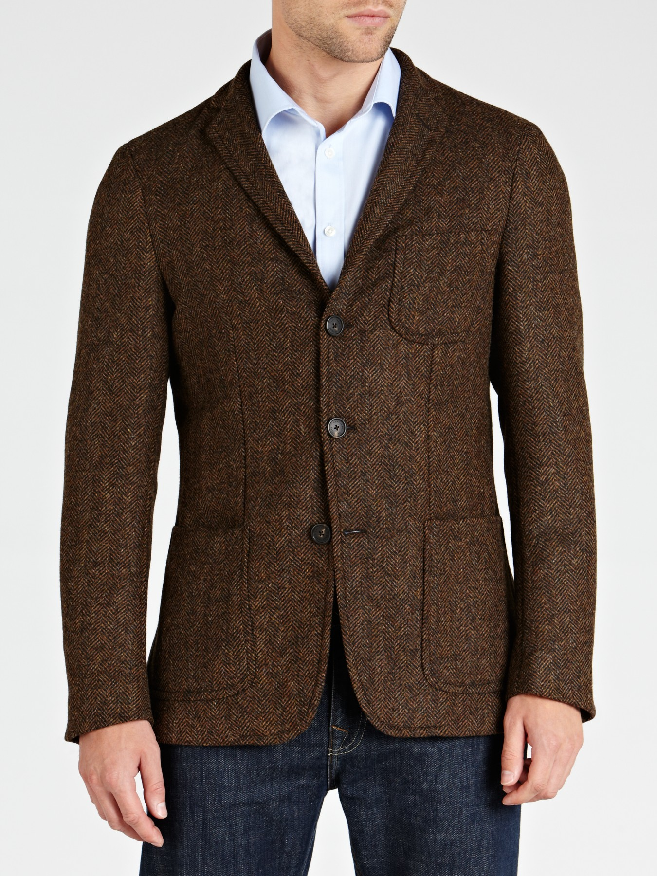 This version of the Ludlow blazer (first launched in ) is made of herringbone wool woven by England's Abraham Moon (considered one of the finest mills in the world).