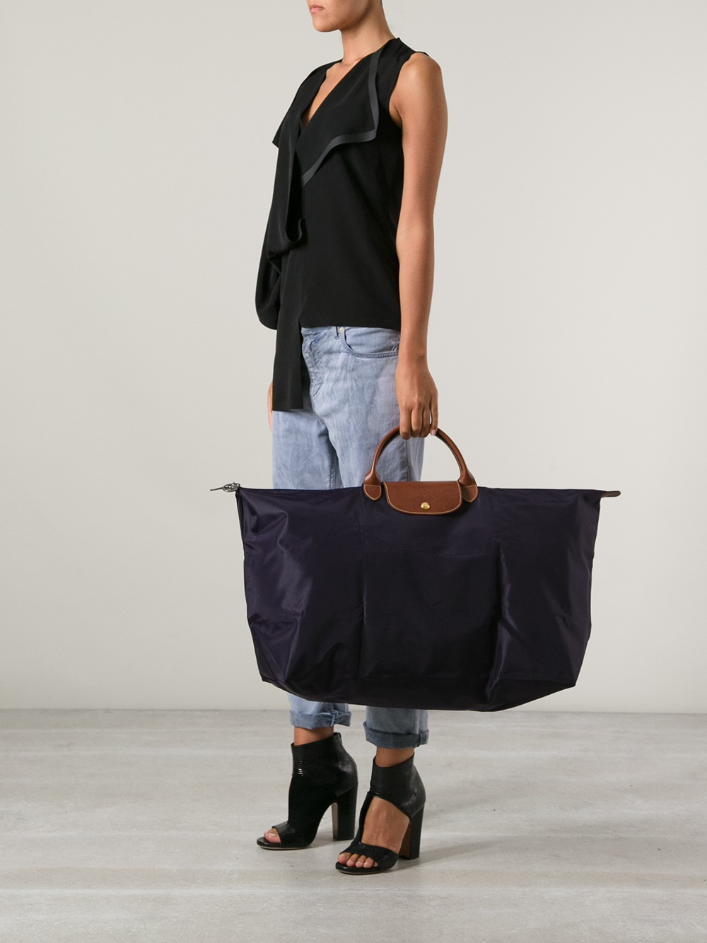 4baa7b8067cd Lyst - Longchamp Le Pliage Travel Bag in Blue