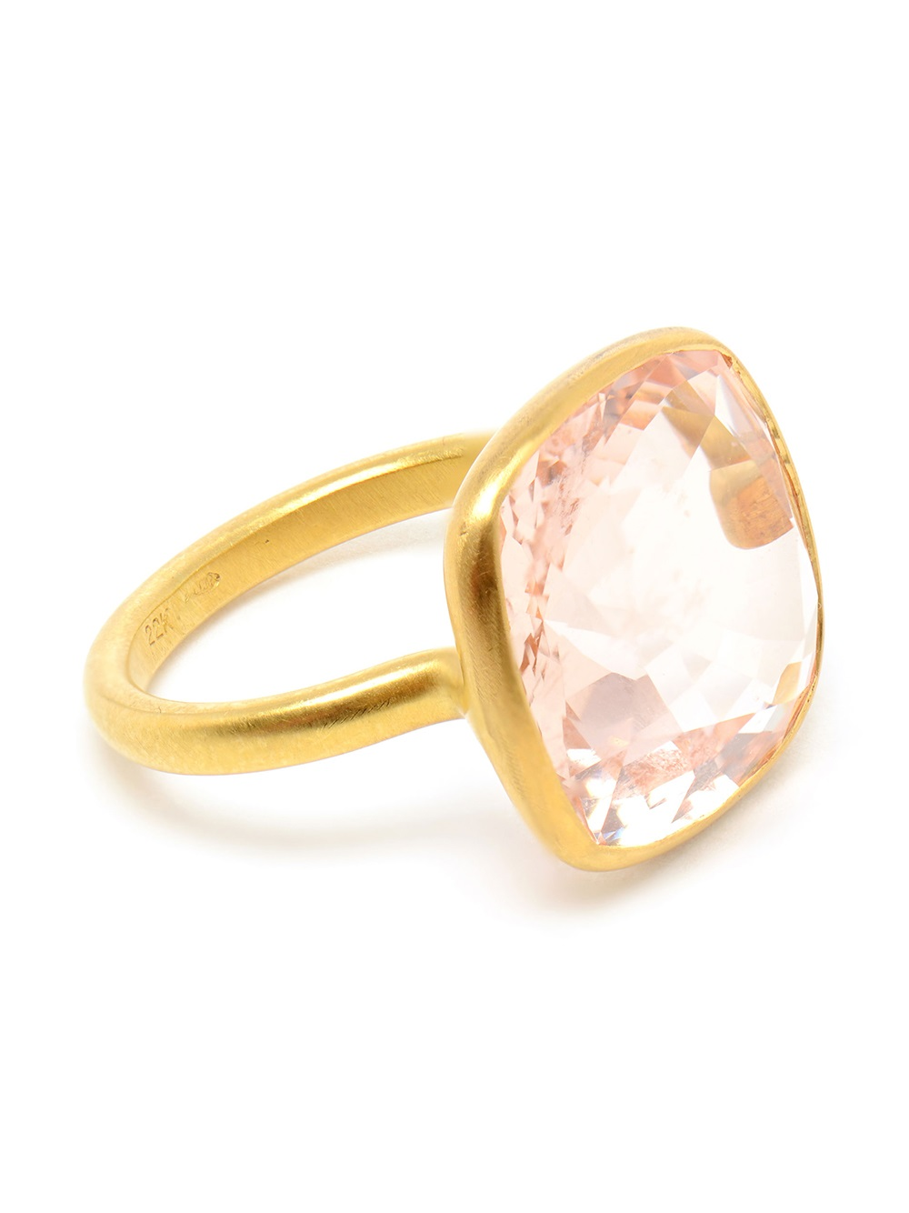 marie h l ne de taillac large morganite gold ring in pink lyst. Black Bedroom Furniture Sets. Home Design Ideas