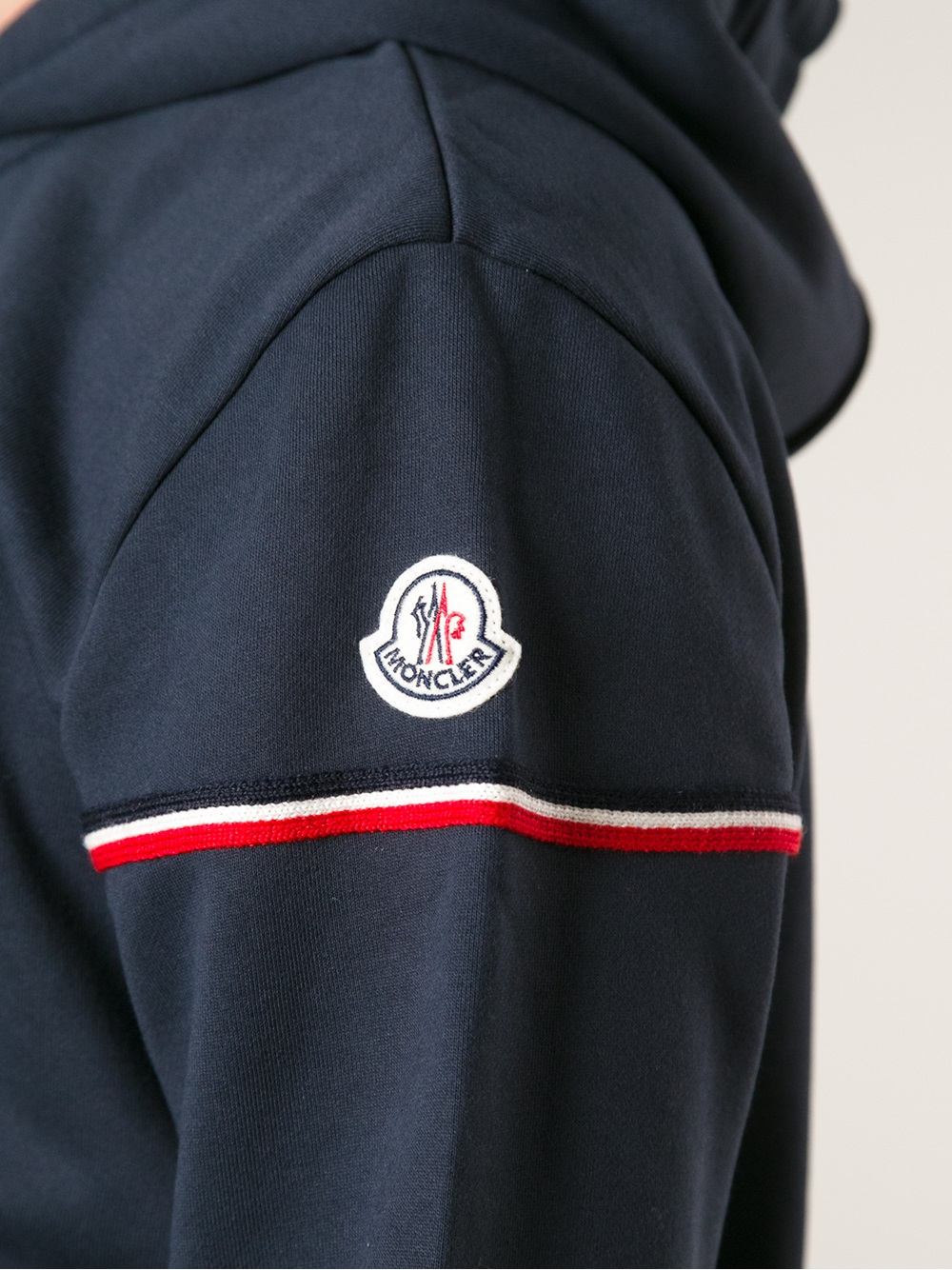 9bf2e3964 Lyst - Moncler Hooded Track Top in Blue for Men