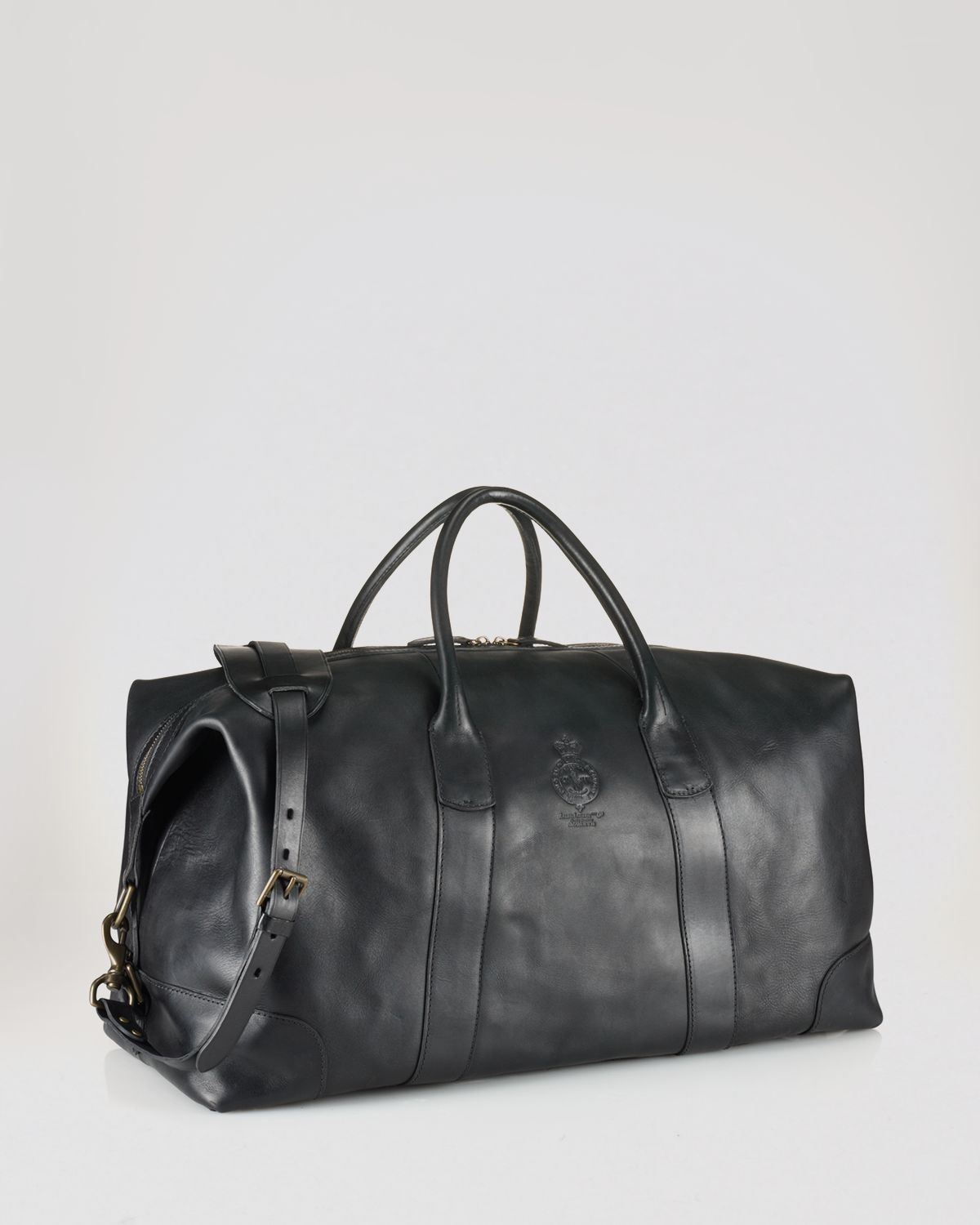 dfa3dcbe4b5a Lyst - Ralph Lauren Polo Leather Duffel Bag in Black for Men