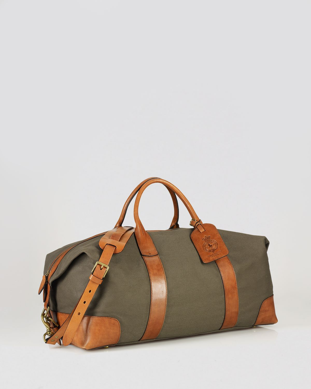 95340e95b0 Lyst - Ralph Lauren Polo Canvas   Leather Duffel Bag in Green for Men