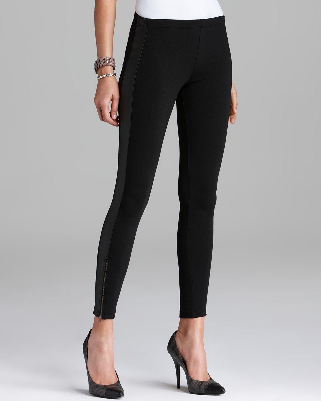 Splendid Leggings Novelty Faux Leather Tuxedo Stripe in Black   Lyst