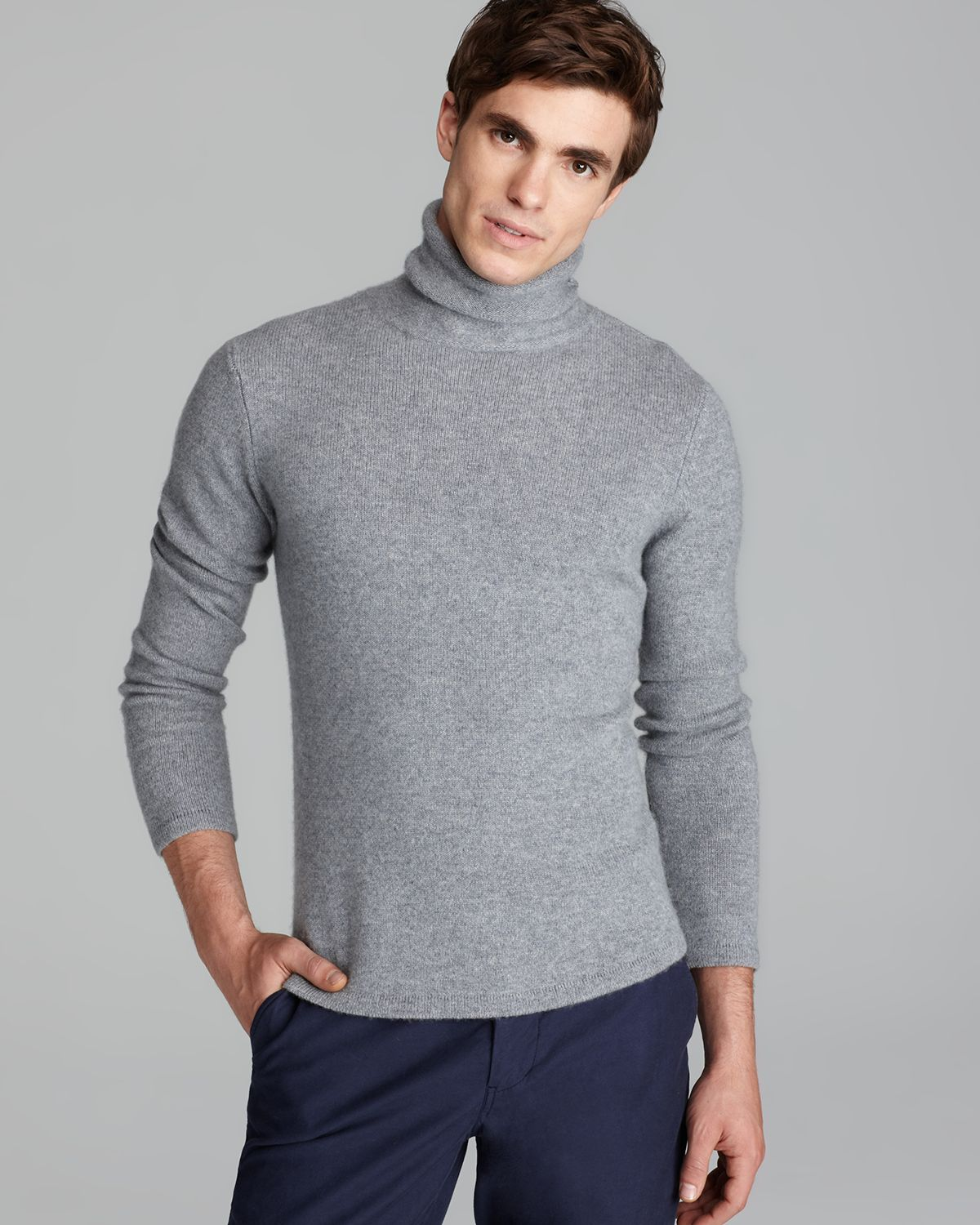 Steven alan Terrence Cashmere Turtleneck Sweater in Gray for Men ...