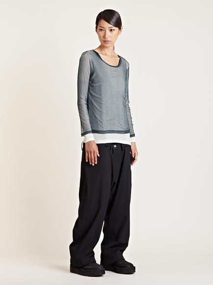 Lyst - Yohji Yamamoto Womens Attach Pants in Black f730e0706