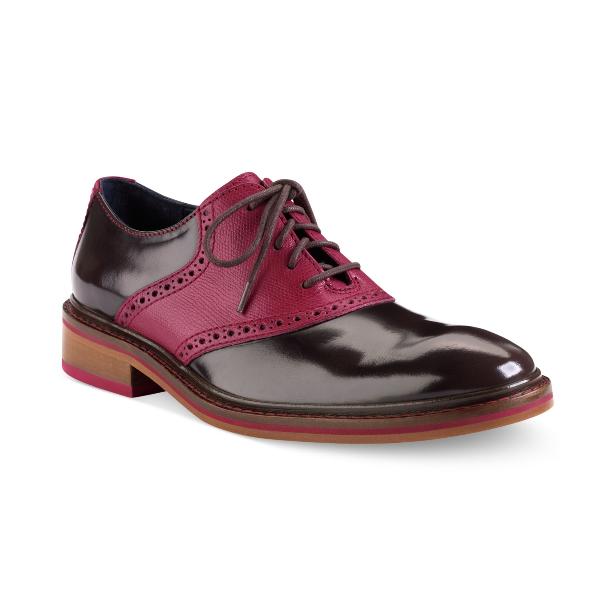 Cole Haan Colton Saddle Laceup Shoes In Brown For Men