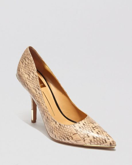 Dolce Vita Pointed Toe Pumps Yani High Heel in Brown (Blush)