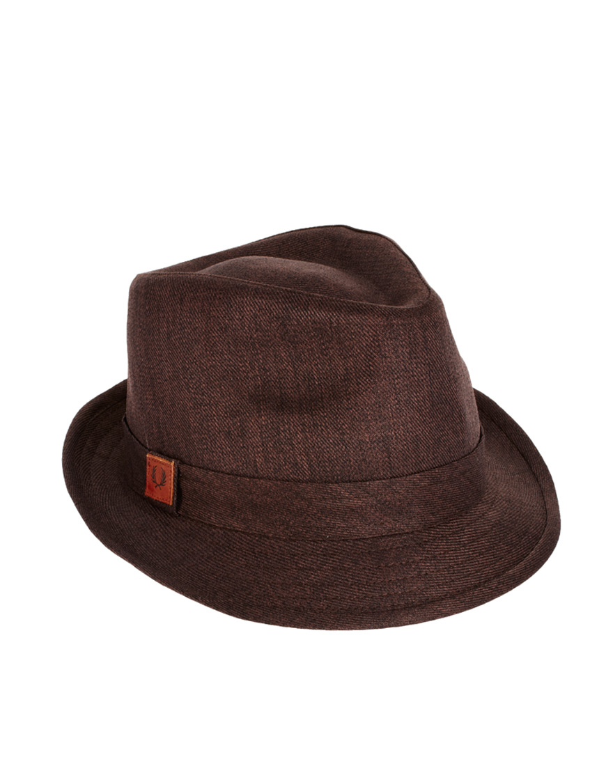 24e44a55 Fred Perry Brown Trilby Hat for men