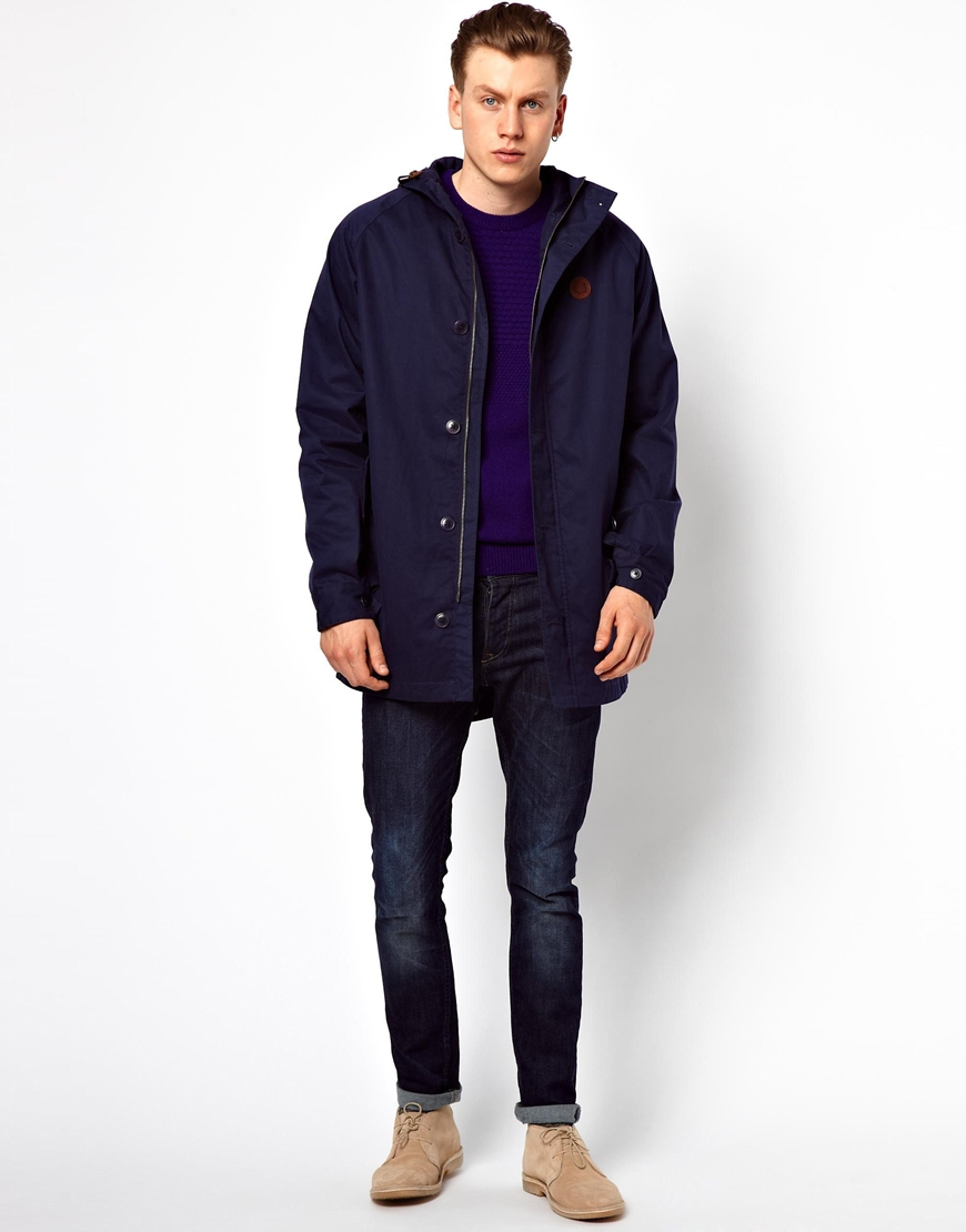 Fred perry Parka in Blue for Men | Lyst