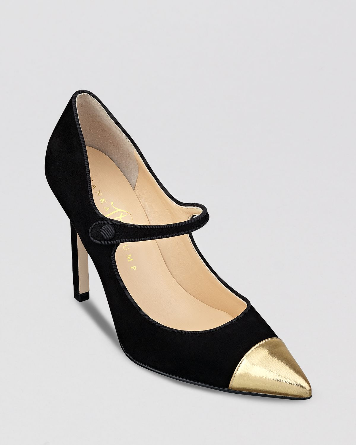 Lyst - Ivanka Trump Cap Toe Pointed Toe Pumps Carni Mary Jane in Black