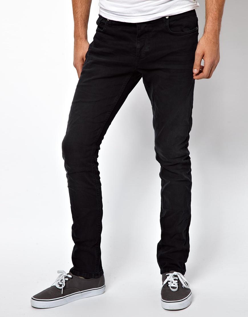 asos jack jones tim original slim fit jeans in blue for. Black Bedroom Furniture Sets. Home Design Ideas