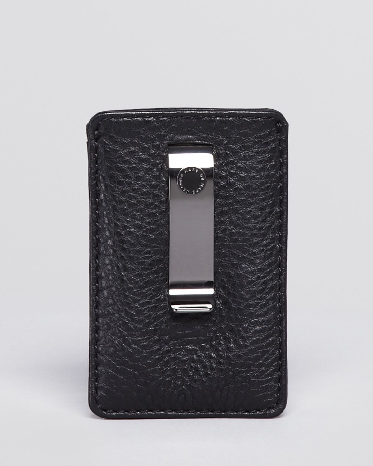 super popular f907d 7d8b1 Marc By Marc Jacobs Black Leather Card Holder with Money Clip for men