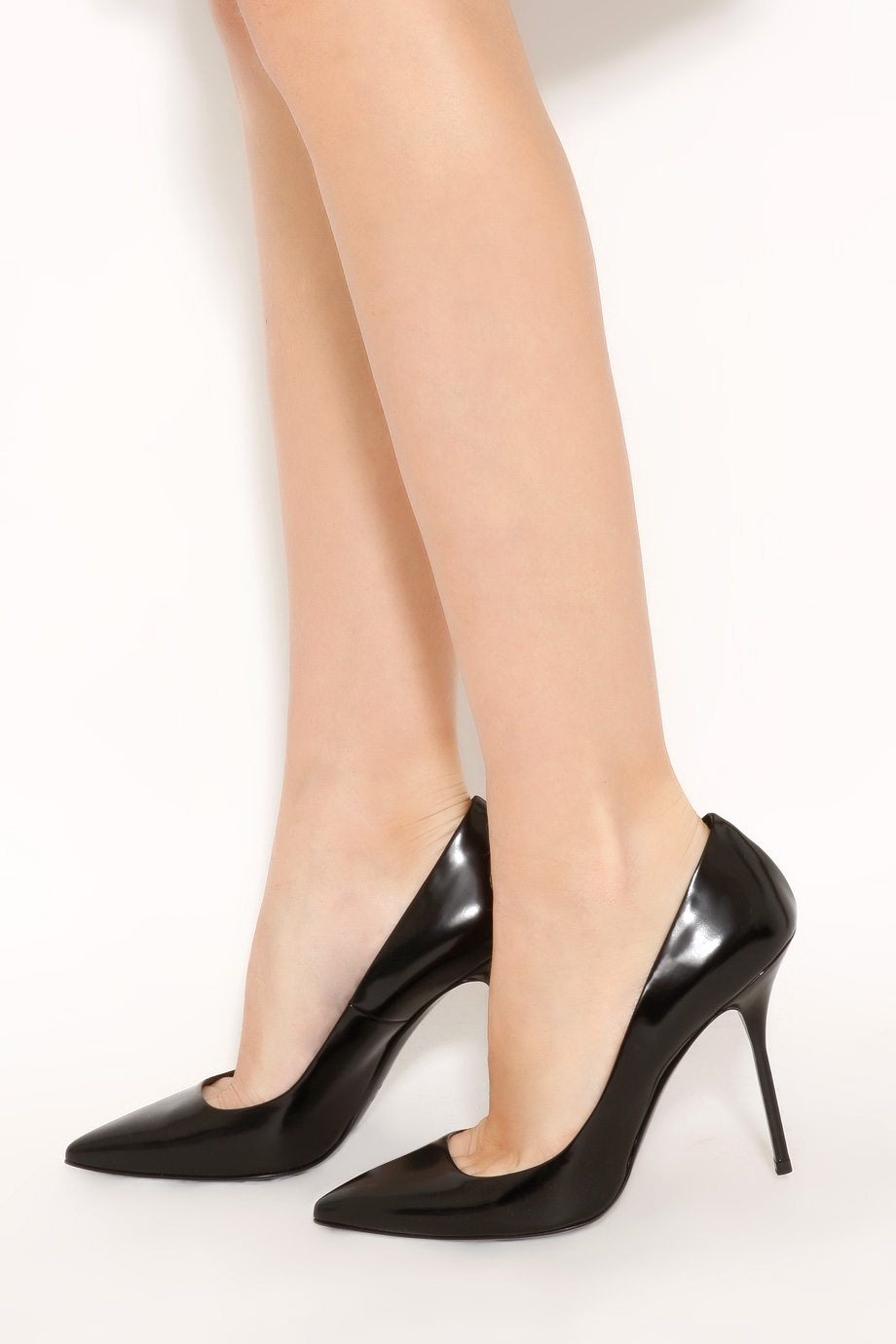 Lyst - Pierre hardy Shiny Calf Pointed High Heels in Black