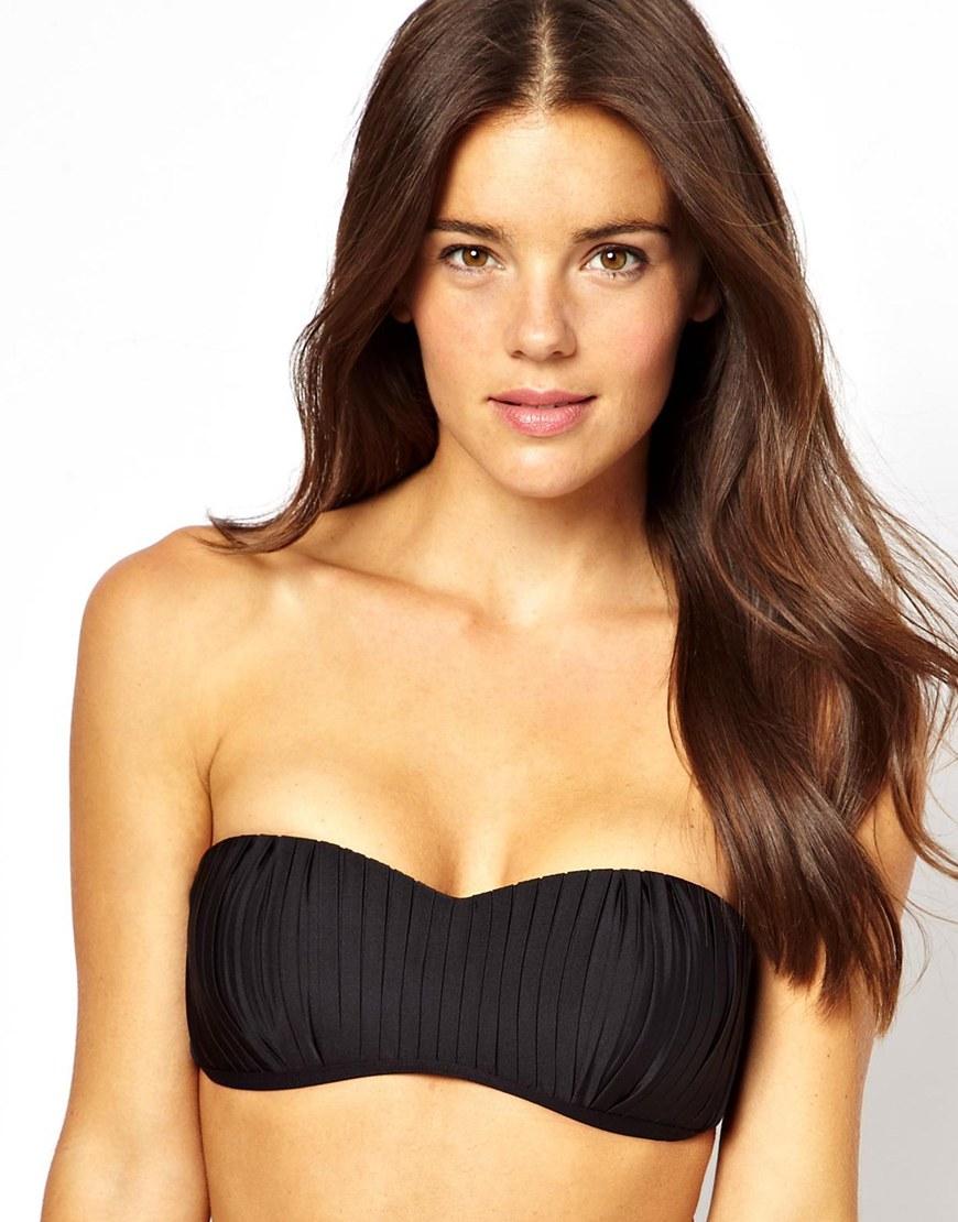 ec1f77121f Lyst - Seafolly Goddess Kiara Bustier Bikini Top in Black