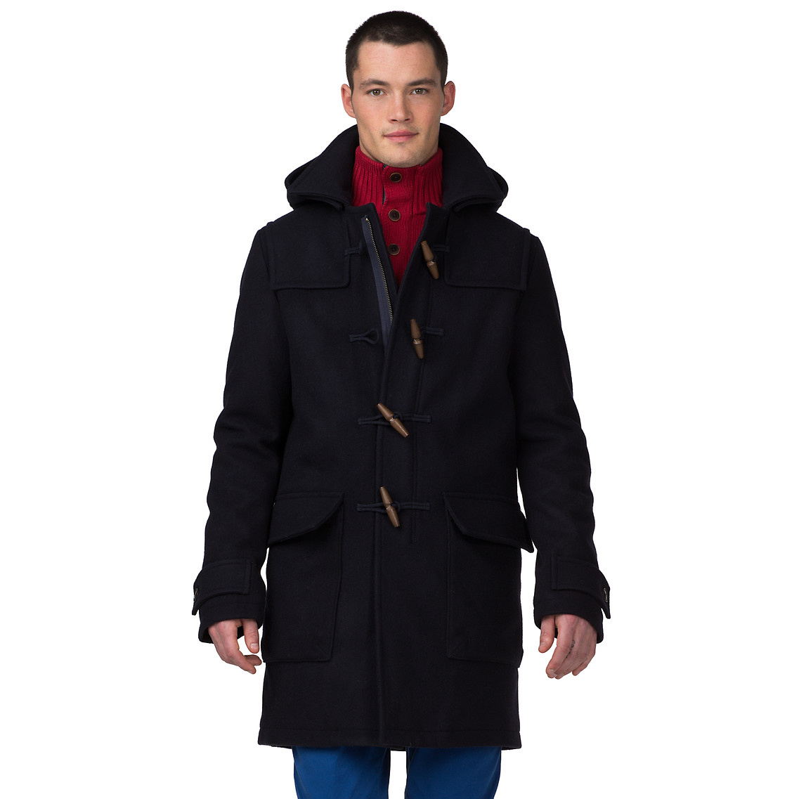 tommy hilfiger duffle coat in blue for men midnight lyst. Black Bedroom Furniture Sets. Home Design Ideas
