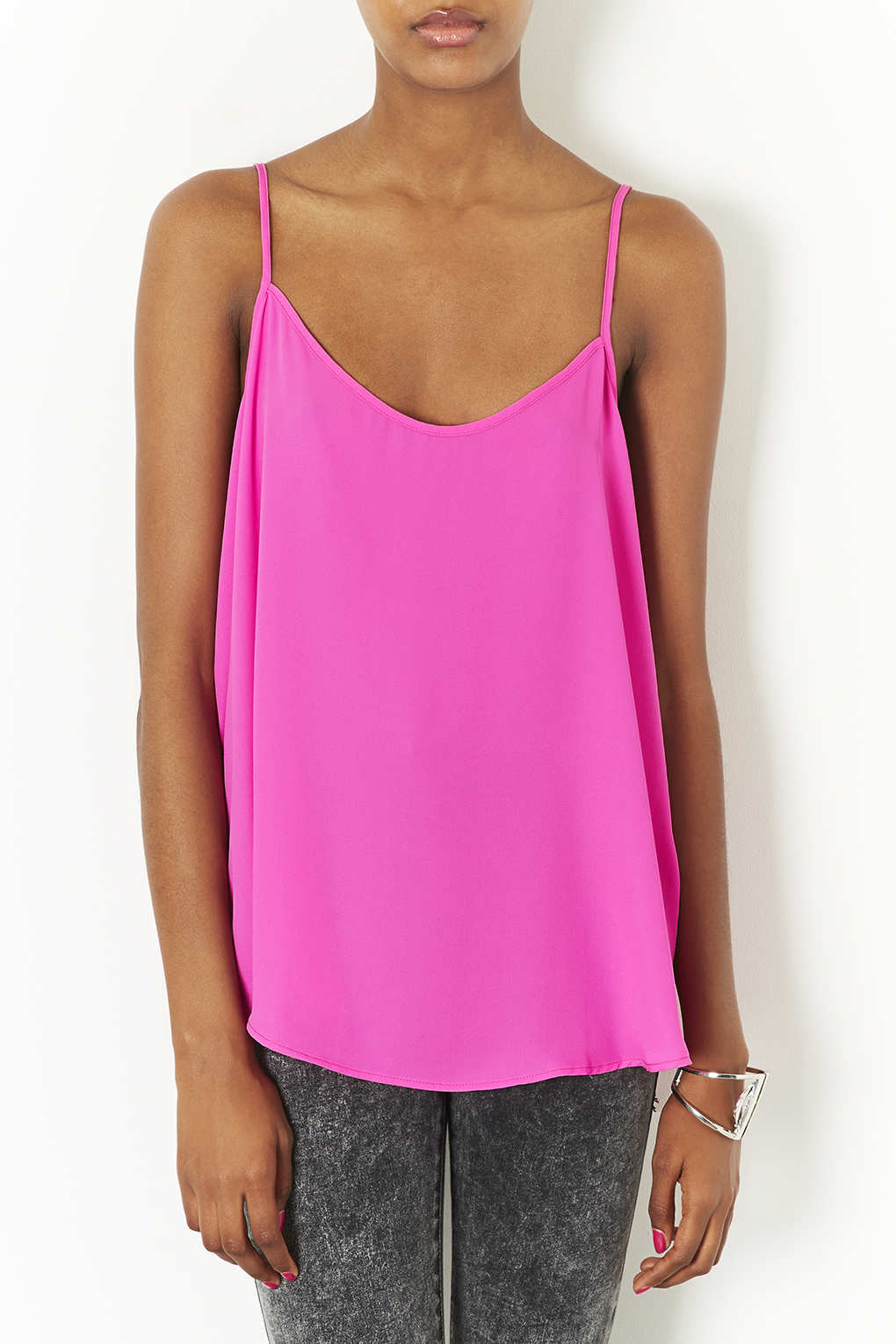 running shoes most popular well known TOPSHOP Tall Strappy Cami in Bright Pink (Purple) - Lyst