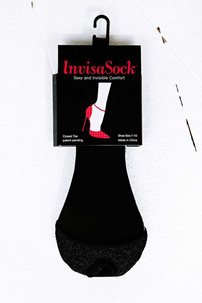 Urban Outfitters Invisasocks Shoe Liner in Black in Black