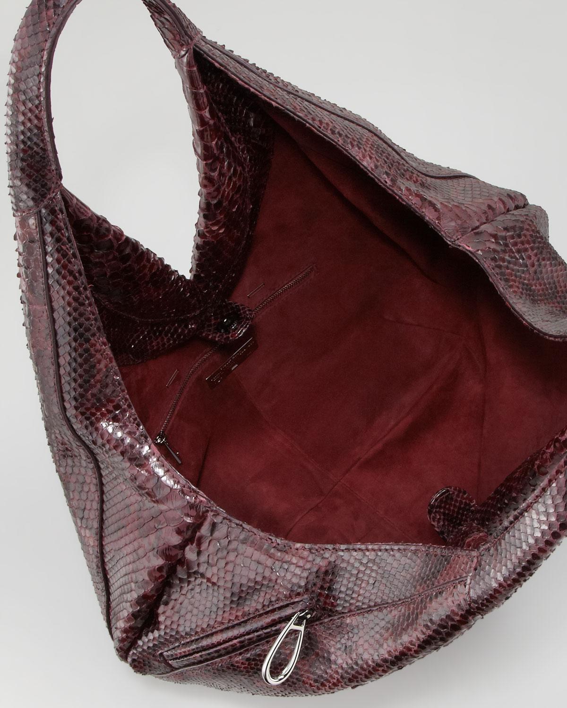 Lyst Vbh Napsack Python Hobo Bag Wine In Purple