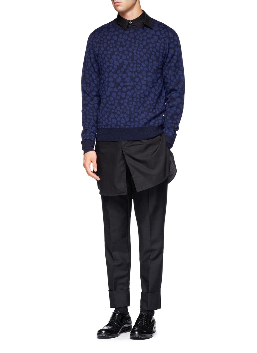 Lyst Acne Studios Cotton Extra Long Shirt In Black For Men