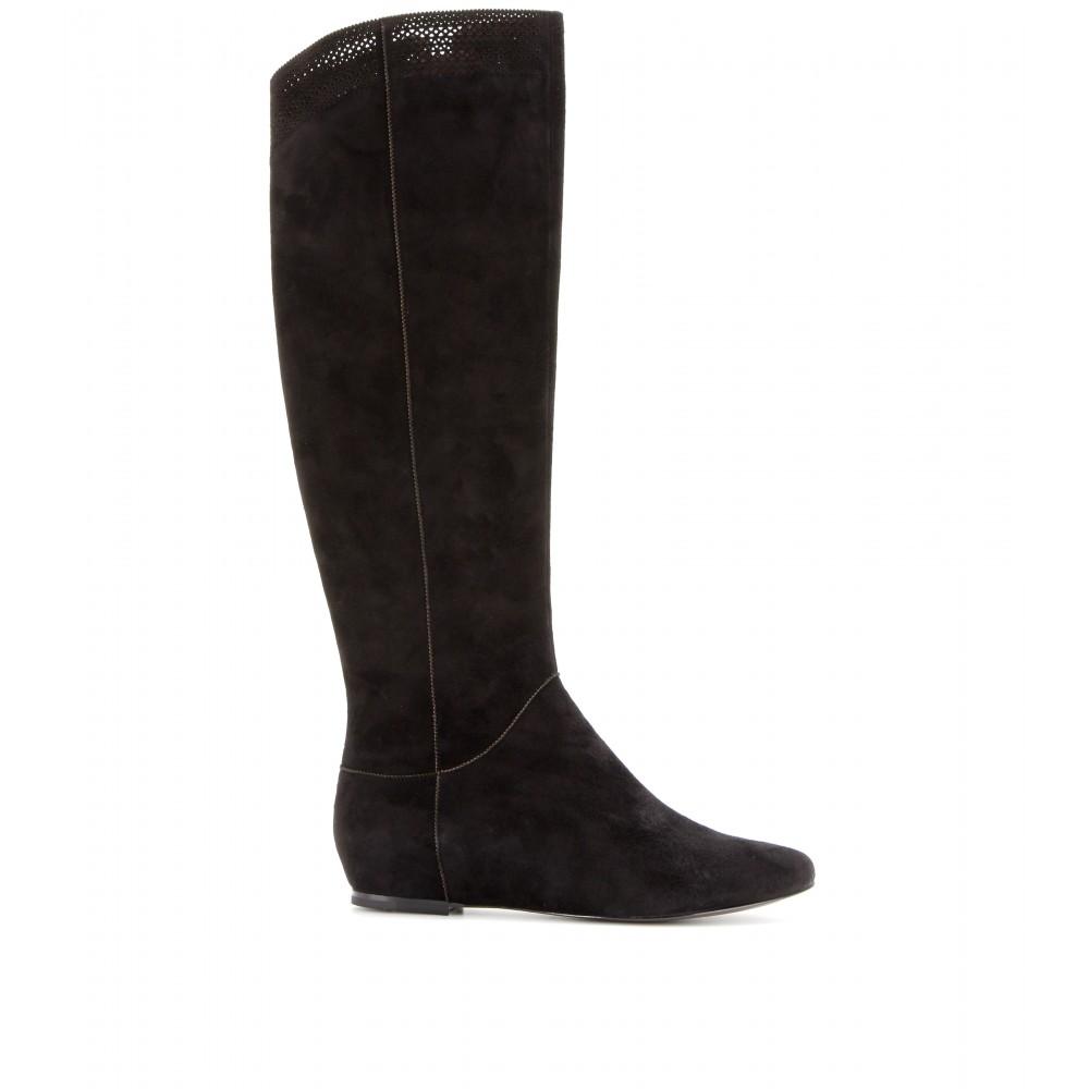 Aerin Denford Suede Kneehigh Boots in Black