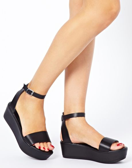 Asos Asos Jump Flatform Sandals In Black Lyst