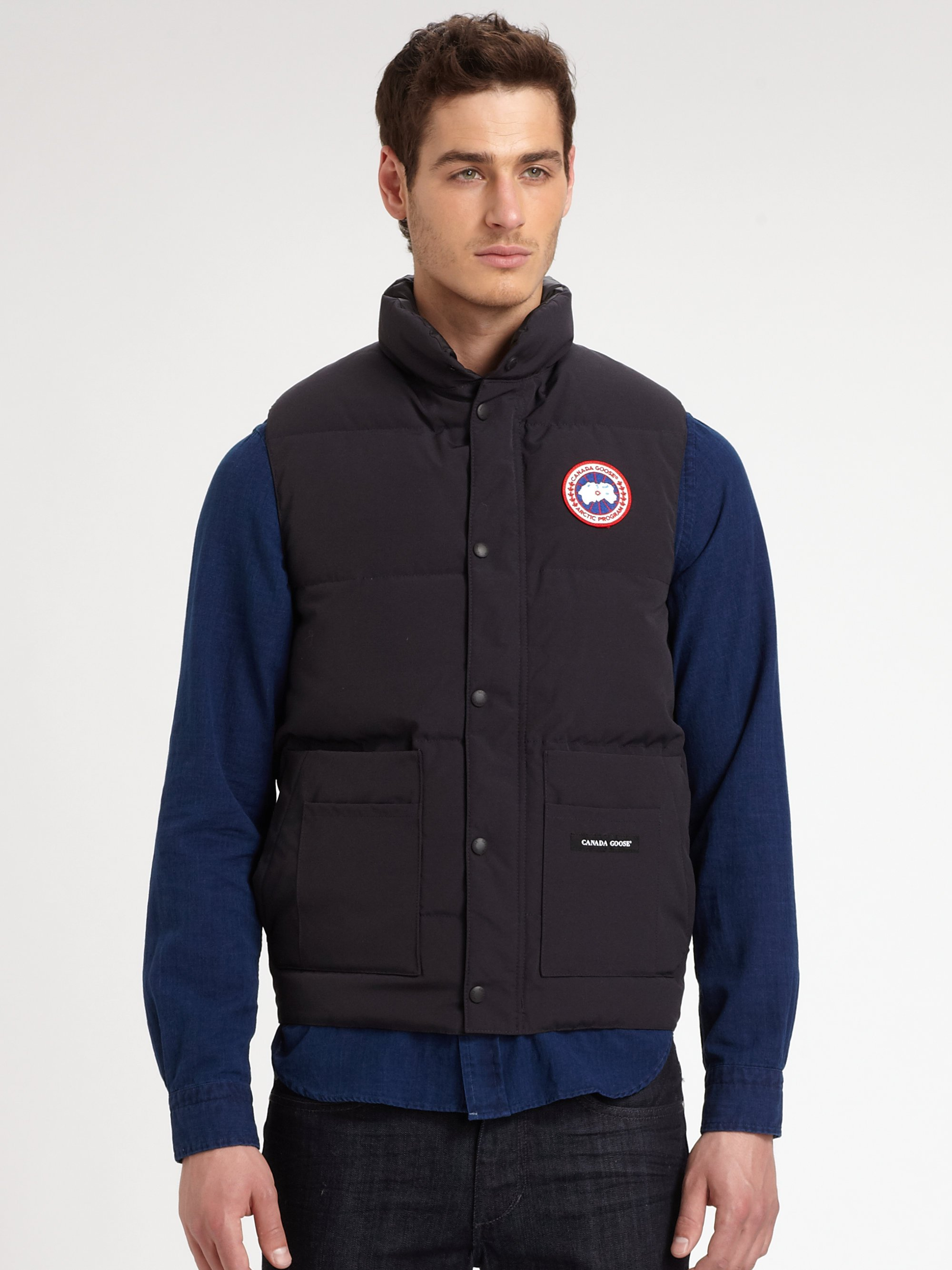 Canada Goose' Black Down Freestyle Vest