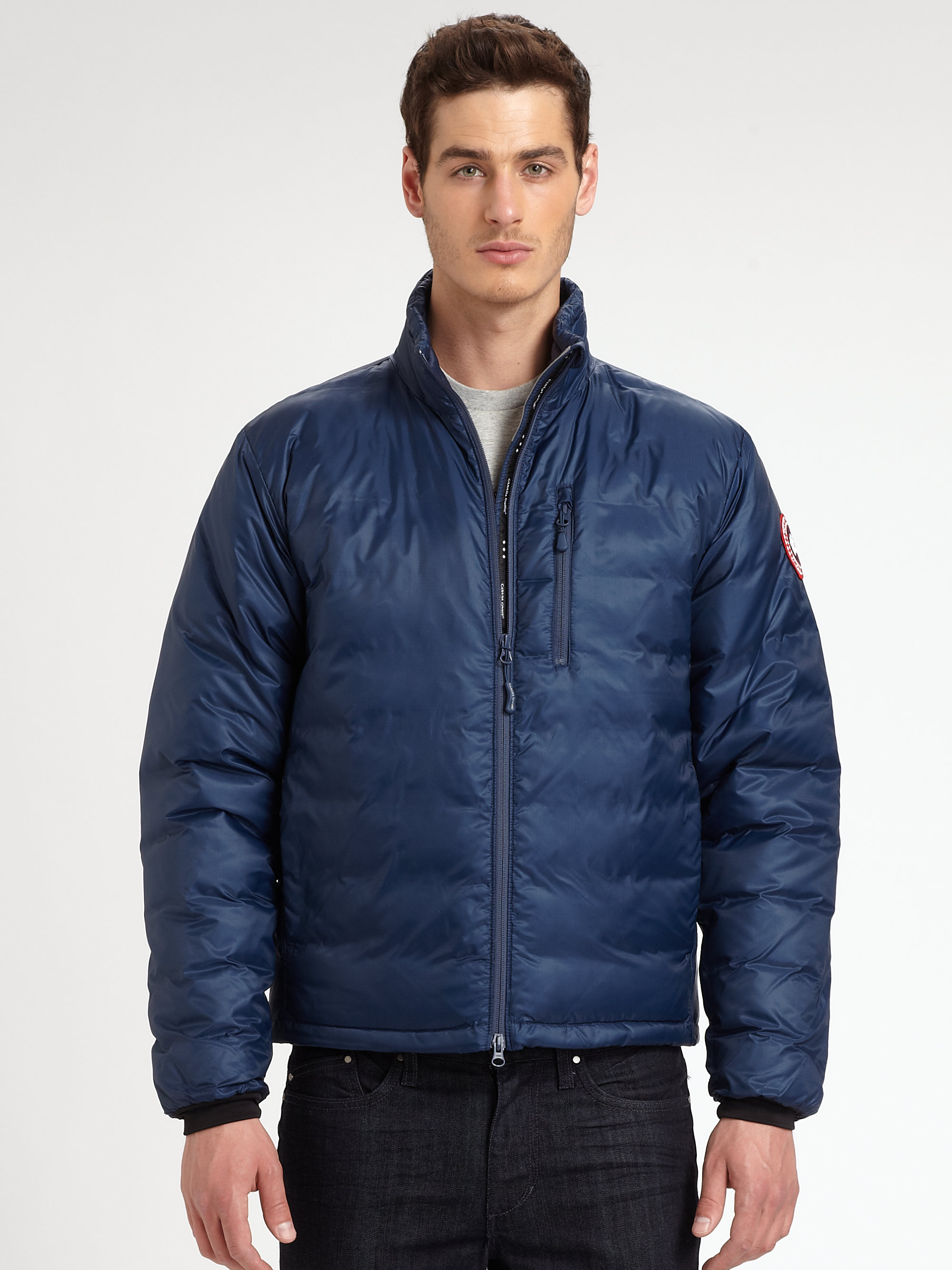 Canada Goose Lodge Down Jacket In Blue For Men Spirit Lyst