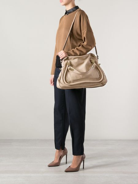 Chloe Large Paraty Leather Shoulder Bag \u2013 Shoulder Travel Bag