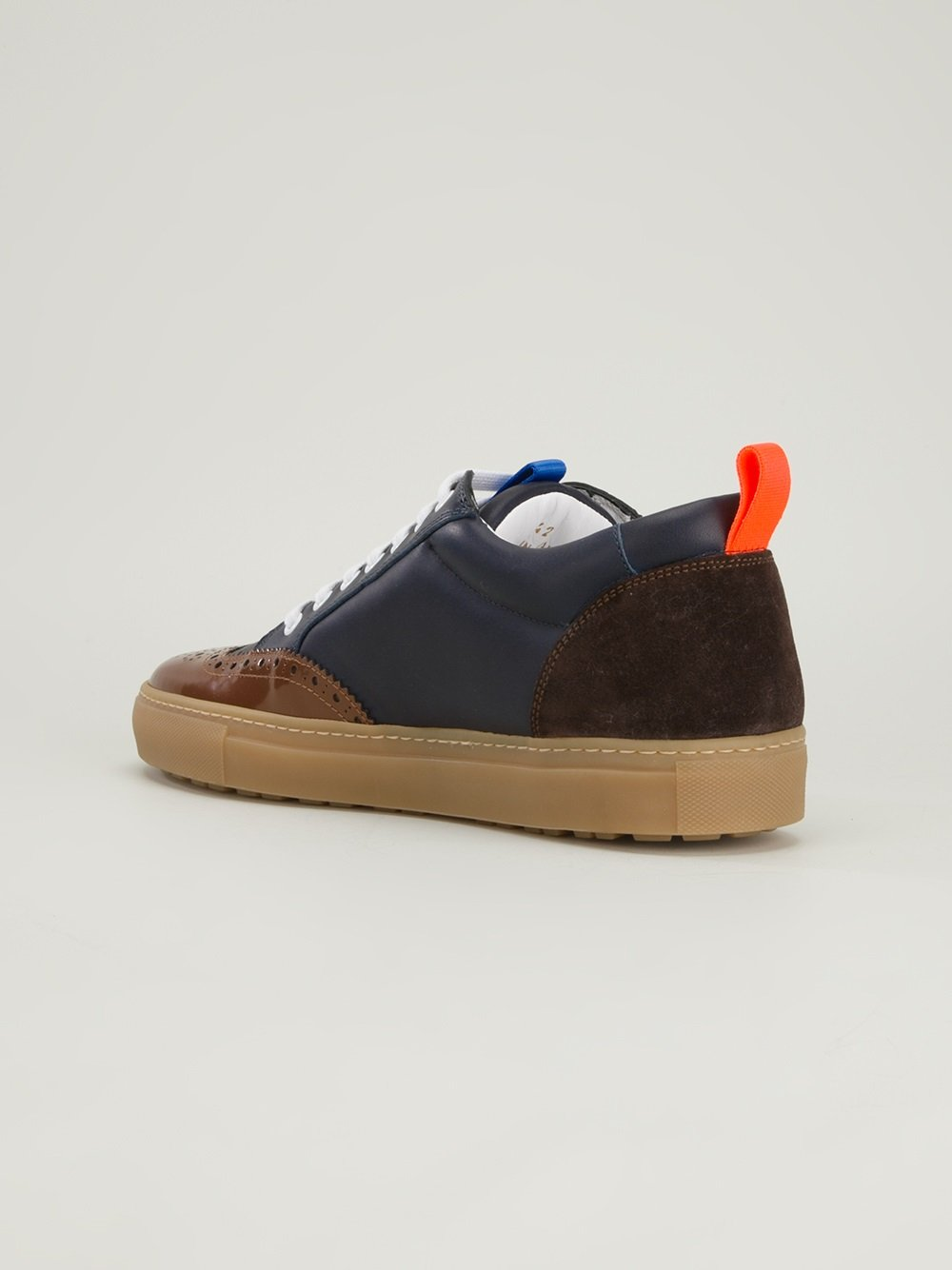 DSquared² Brogue Trainer in Blue for Men