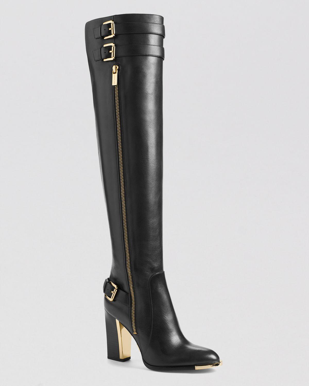 Michael Kors Over The Knee Boots Jayla High Heel In Black
