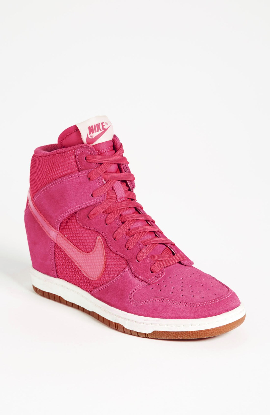 nike dunk sky hi wedge sneaker in pink lyst. Black Bedroom Furniture Sets. Home Design Ideas