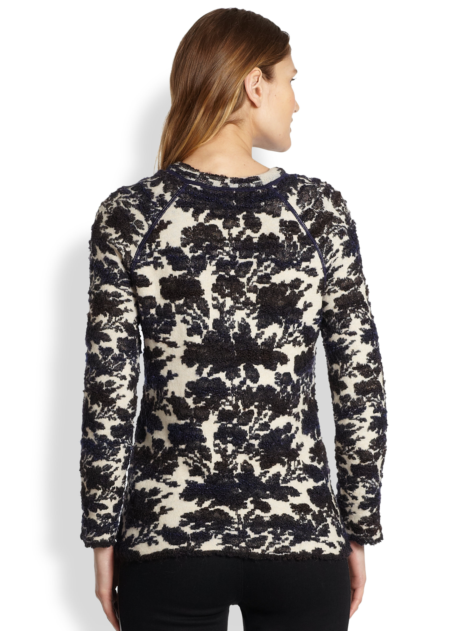 Lyst tory burch devon sweater in black for Tory burch fashion island