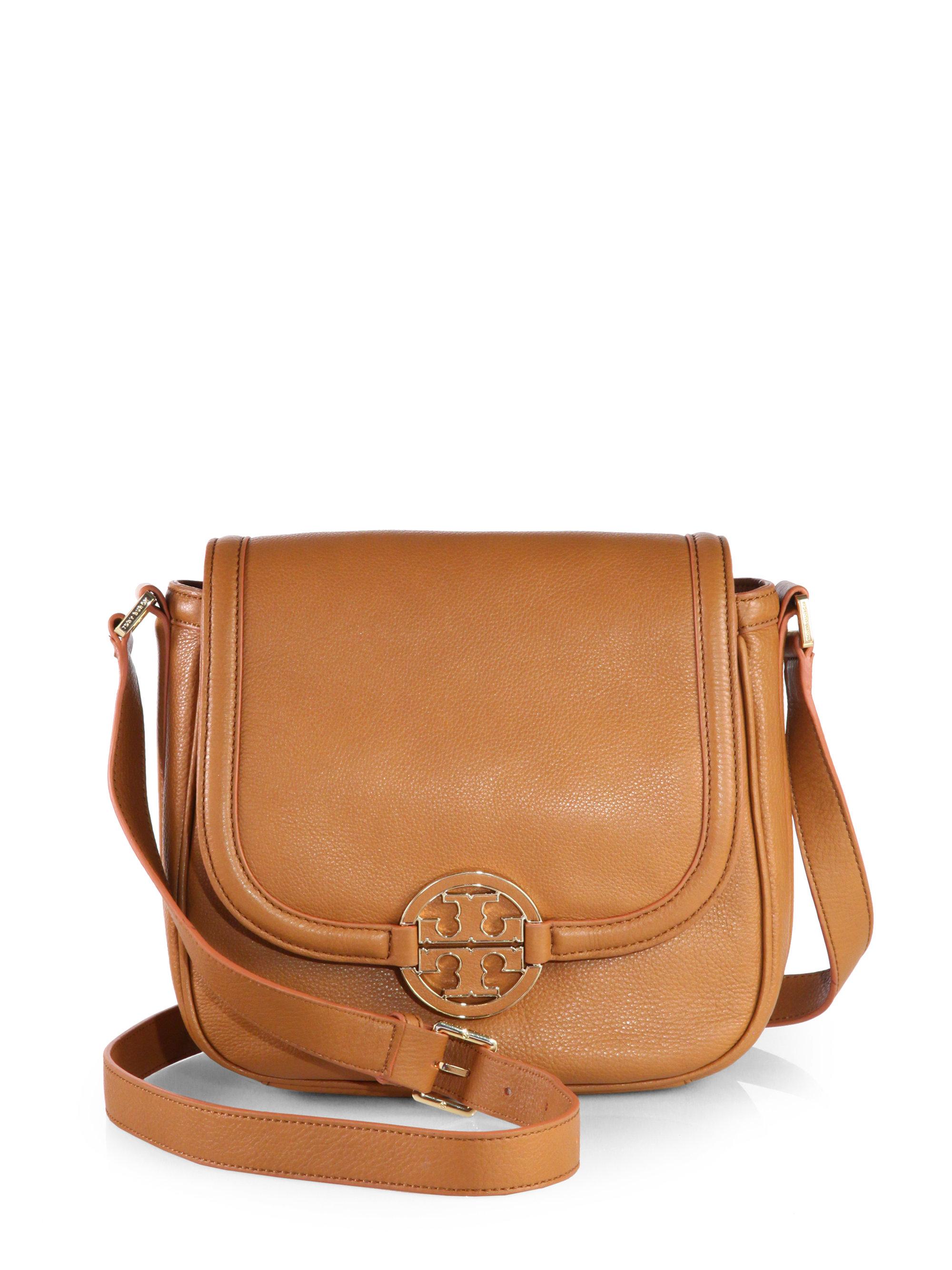 86b0e0d74ffd8 Lyst - Tory Burch Amanda Round Crossbody Bag in Brown