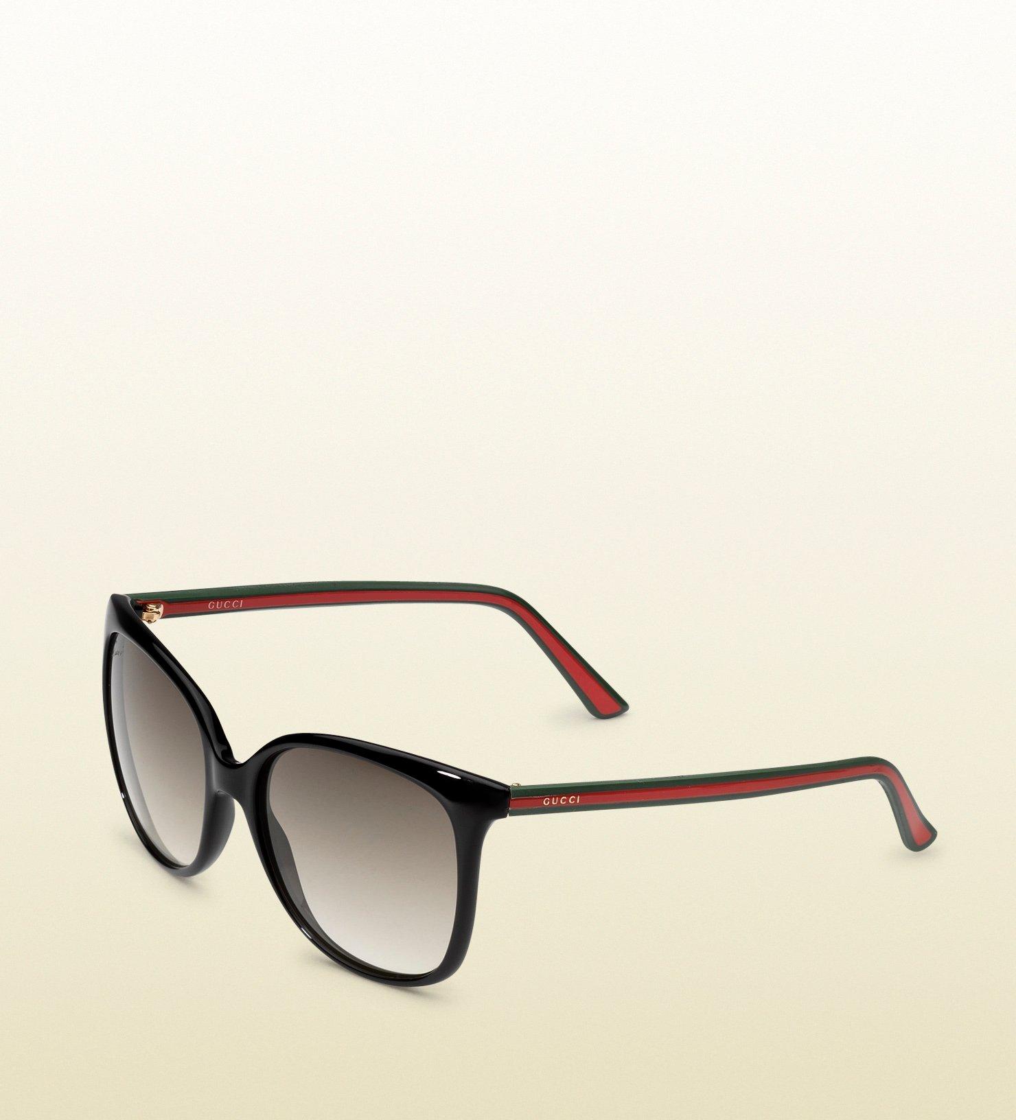 58ee403e69a Lyst - Gucci Rubber Effect Web Sunglasses in Black for Men
