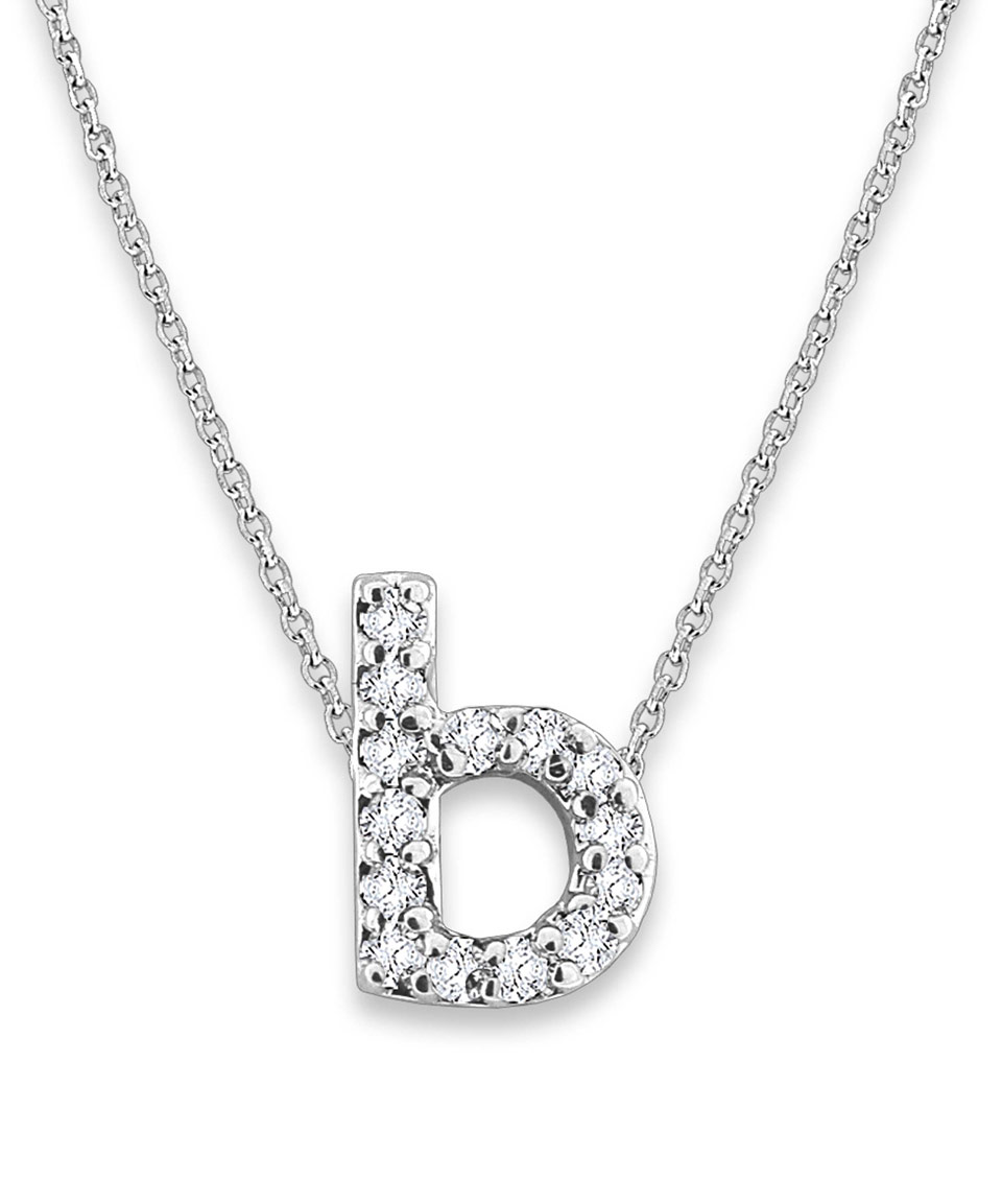 Kc Designs White Gold and Diamond Letter B Necklace Kc Design in White