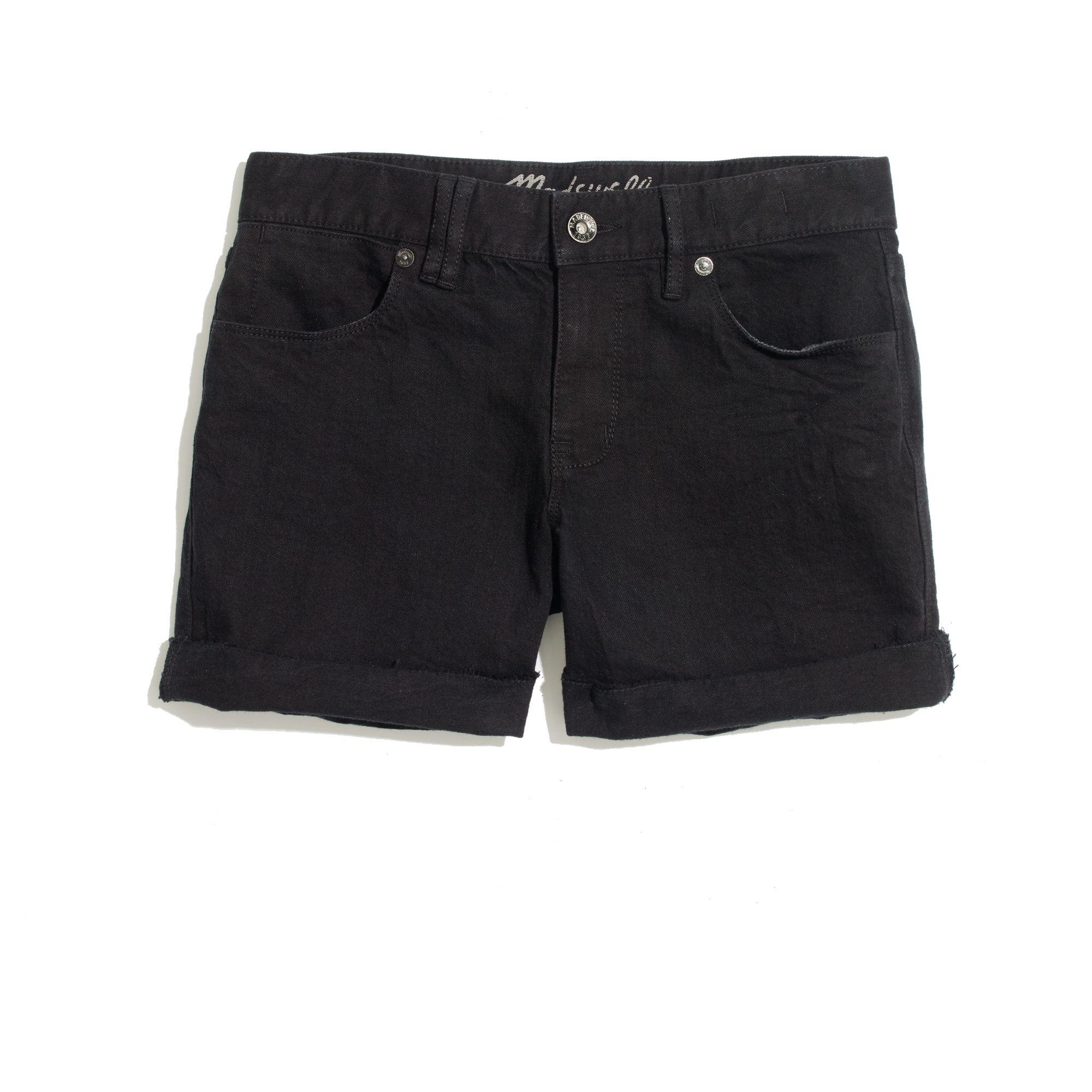 Madewell Denim Midi Shorts In Midnight in Black | Lyst