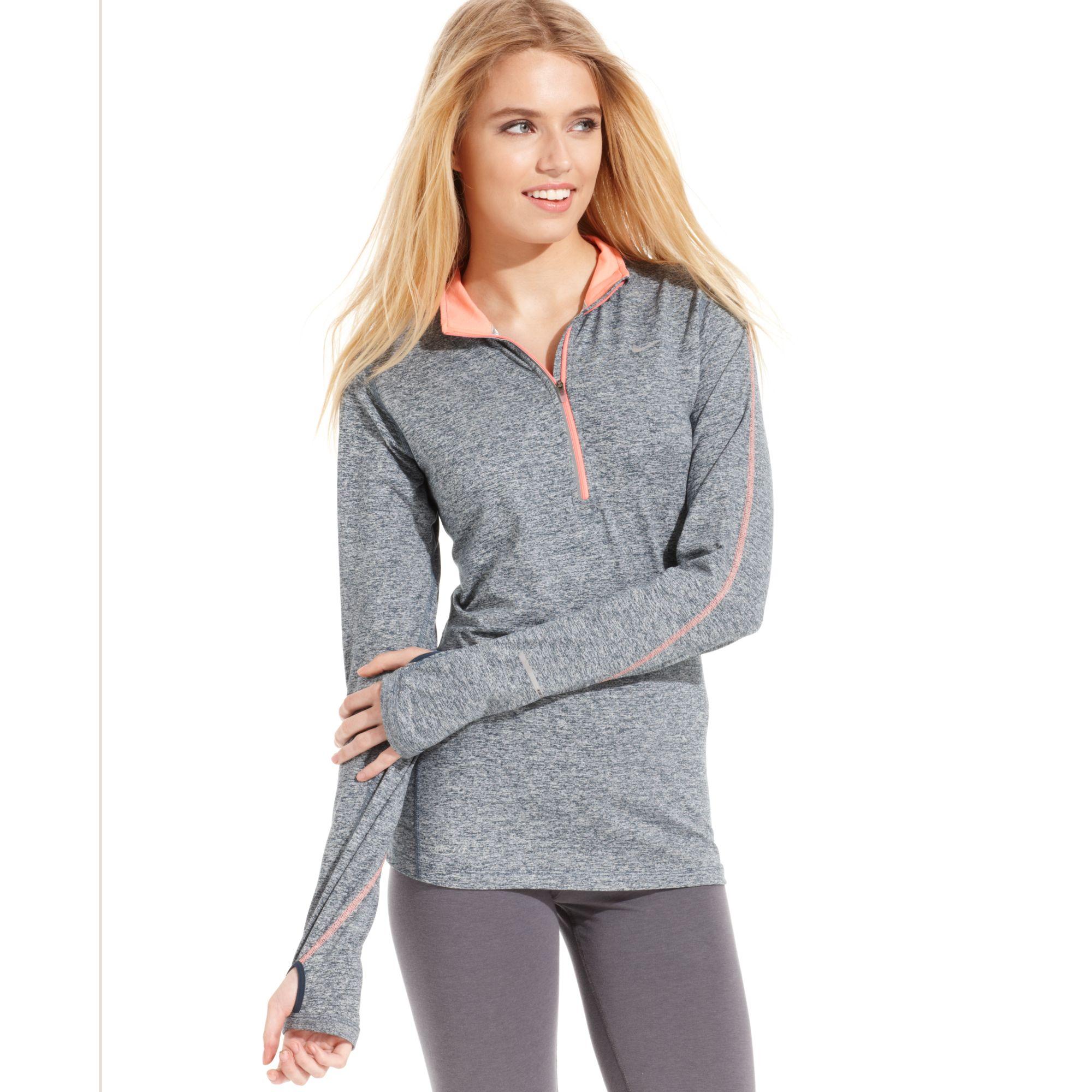 Nike Element Longsleeve Drifit Halfzip Pullover In Gray