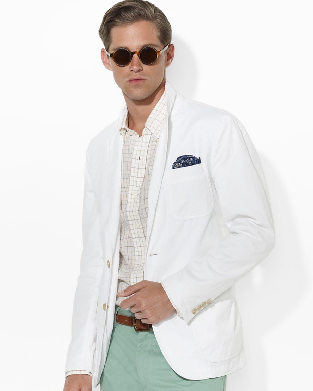 85d125086d Ralph Lauren White Polo Langley Chino Sport Coat for men