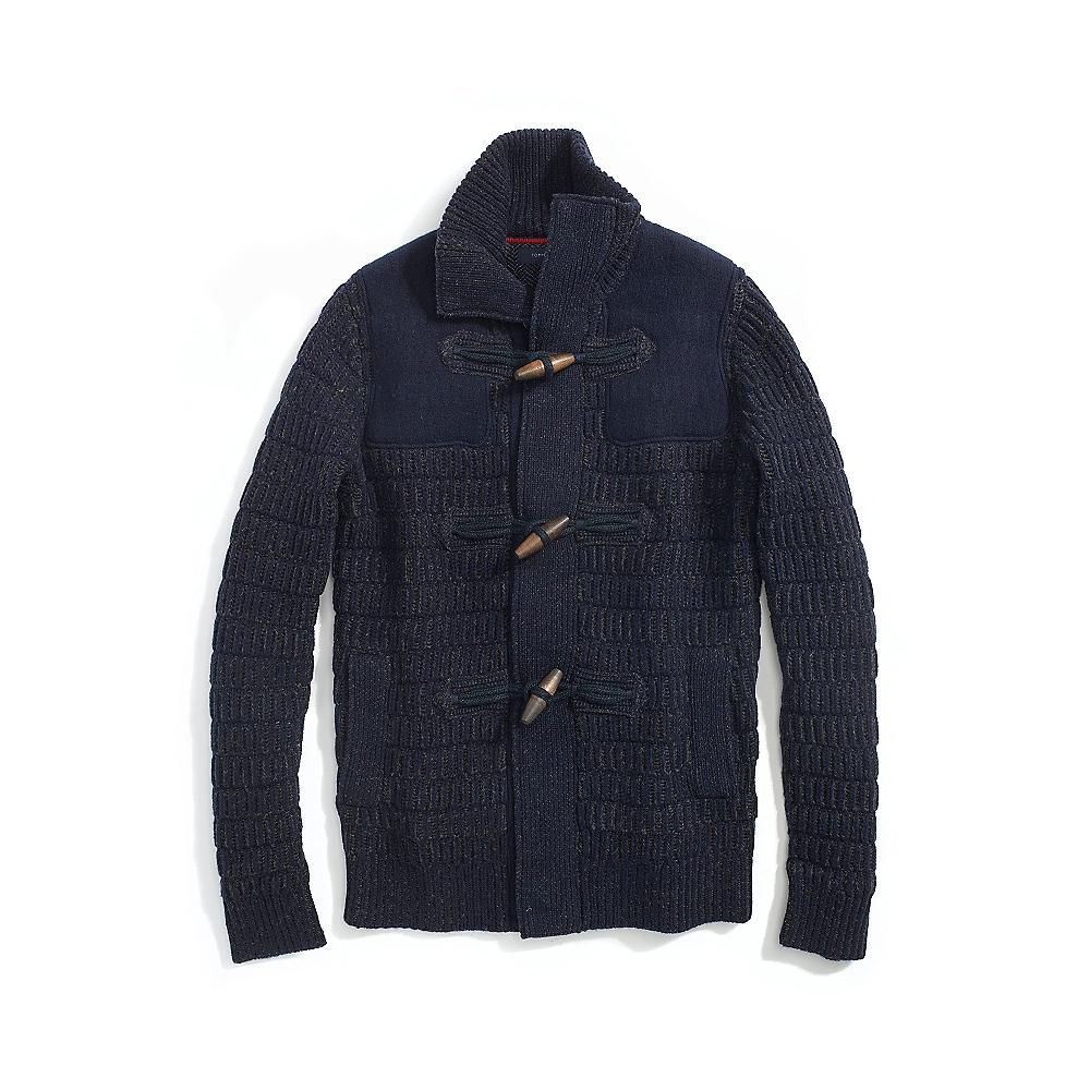 tommy hilfiger final sale toggle cardigan in blue for men navy. Black Bedroom Furniture Sets. Home Design Ideas