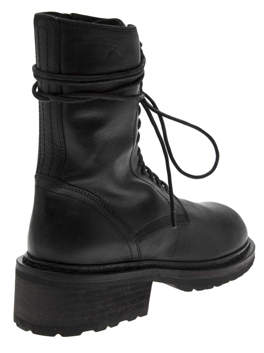 Lyst Ann Demeulemeester Combat Boot In Black