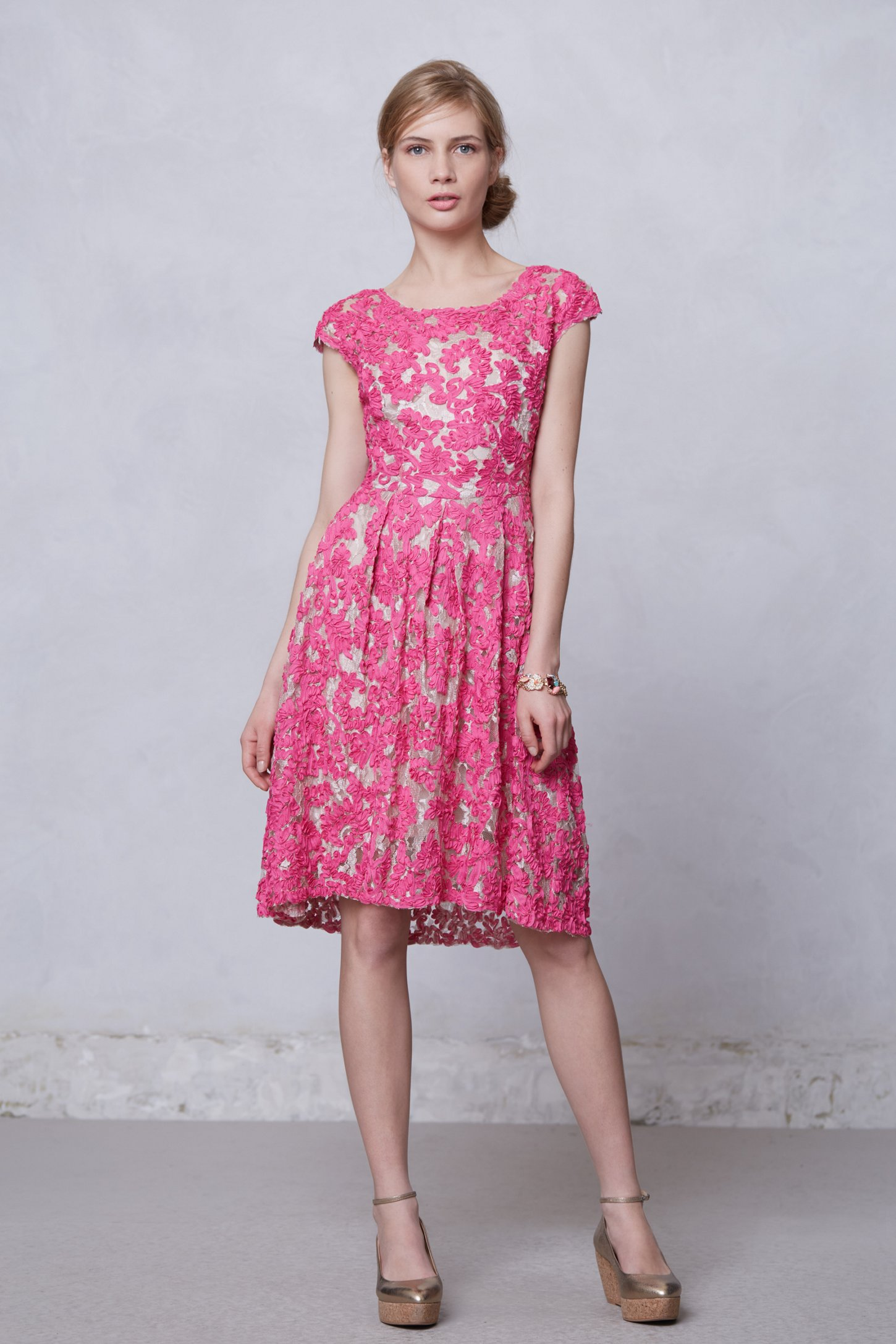 Anthropologie Jardim Lace Dress in Pink (RED MOTIF) | Lyst
